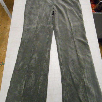 600 West Women's Vintage Corduroy Velour Pants, 4, Graphite