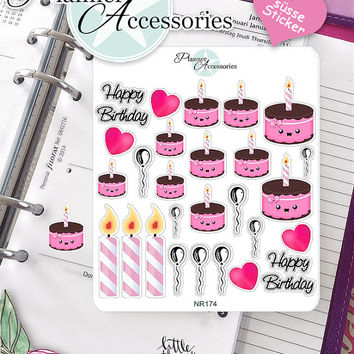 Sticker shopping Birthday -  Erin Condren, Happy Planner, Filofax, Kikki K - NR174
