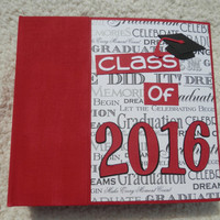 6x6 Class of 2016 Red Graduation Scrapbook