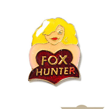 Fox Hunter Vintage Pin