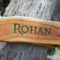 Rohan Wooden Sign, Tolkien's Lord of the Ring, LOTR, Hobbit, Middle Earth, by The Jolly Geppetto