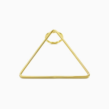 Gold Triangle Statement Ring