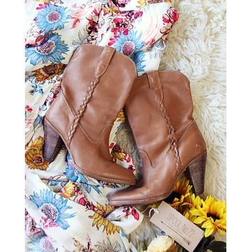 Vintage Braided Booties