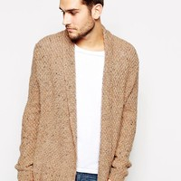 ASOS Cardigan In Textured Yarn - Oatmeal
