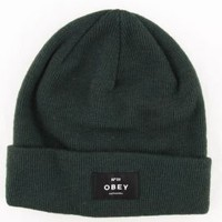 OBEY Womens, Vernon Beanie - Emerald - Women's Accessories - MOOSE Limited