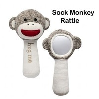 Sock Monkey Company.com - Sock Monkey Baby Rattle