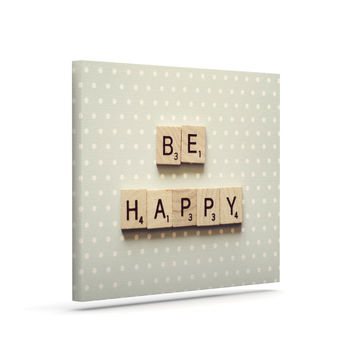 "Cristina Mitchell ""Be Happy"" Canvas Art"