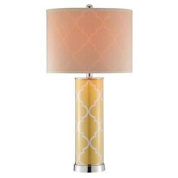 99853 - Casablanca Buttercup Yellow Table Lamp - Free Shipping!