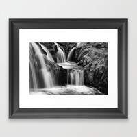 Waterfalls movement Framed Art Print by Claude Gariepy