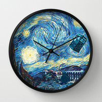 Boğaziçi Night - Doctor Who Wall Clock by Bosphorus