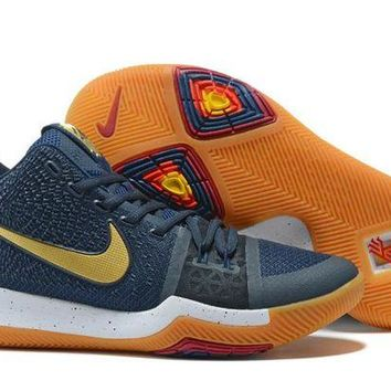 DCCK Nike Kyrie Irving 3 Navy/Gold Sport Shoes US7-12