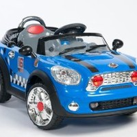 MINI-COOPER 2013 MODEL Ride On Car Electric Power Wheel Kids W/ MP3 Connection Remote Control RC Blue 2 Motors New