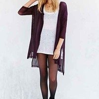 Silence + Noise Step-Hem Cardigan Sweater-