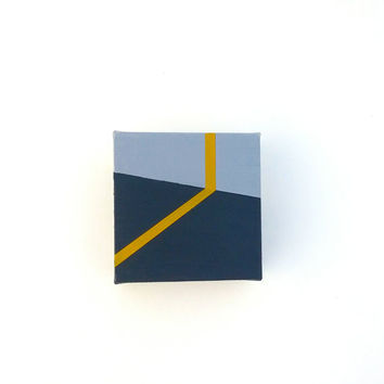 Tiny abstract canvas art geometric from rolandpaints on etsy for Modern minimalist wall art