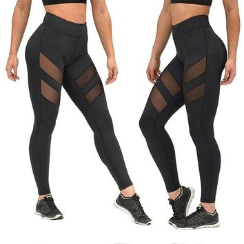 High Waist Fitness Yoga Sport Pants Printed Stretch Point Leggings