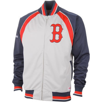 Boston Red Sox Stitches Poly Brushed Full Zip Track Jacket – Gray