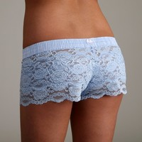 FOXERS -  Light Blue Lace Boxers
