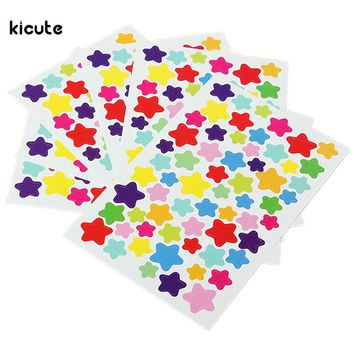 6 Sheets Sticker Diary Planner Colorful Rainbow Heart Star Journal Scrapbooking Notebook Ablums Photo Decoration 3 Pattern