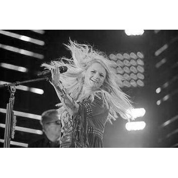 Miranda Lambert Poster Standup 4inx6in black and white