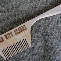 Beard comb Wooden Comb for beard Combs Gift for dad Gift for him Comb wooden hair comb Hair comb Idea for gift Dad gift