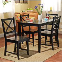Walmart: Virginia 5 Piece Dining Set, Black