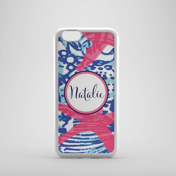 Personalized iPhone or Samsung Galaxy S3 Case, iPhone 4/4S, iPhone 5, iPhone 6, Samsung Galaxy S3,S4, S5, Lilly Pulitzer Inspired Phone Case