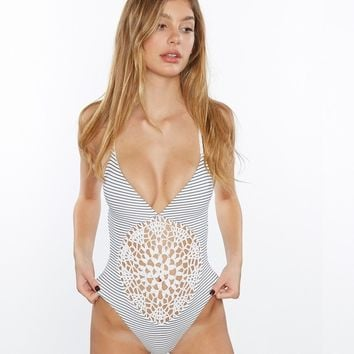Frankies Bikinis - Poppy One Piece | Hamptons Crochet Swimsuit