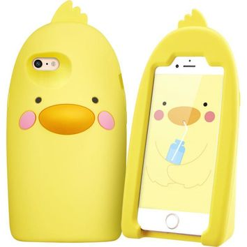 iPhone Cartoon soft silicone Kickstand Protective Case Cover