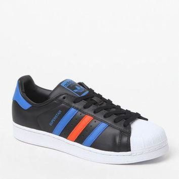 ICIKSU9 adidas Superstar 80s Black and Blue Shoes at PacSun.com