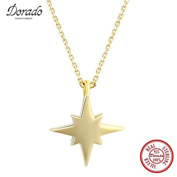 Dorado 2017 Fashion Fine Jewelry 100% Pure 925 Sterling Silver Charm Simple Star Pendant Necklace for Lady Party