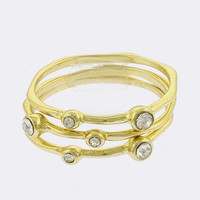 Kendal Crystal Stackable Ring Set