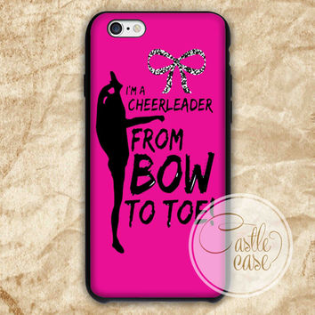 Bow To Toe Cheer iPhone 4/4S, 5/5S, 5C Series Hard Plastic Case