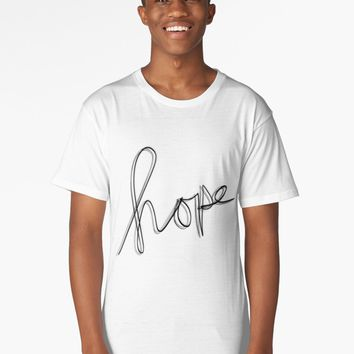 "'""hope"" hand drawn typography' Long T-Shirt by BillOwenArt"