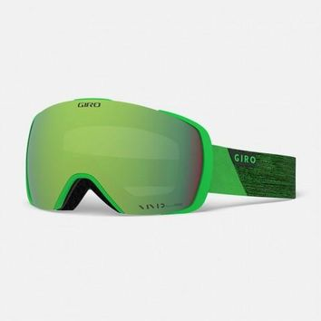 Giro - Contact Bright Green Peak Snow Goggles / Vivid Emerald + Vivid Infrared Lenses