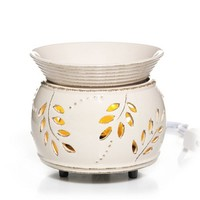 Everyday Ceramic Leaf and Berry Electric Wax Melts Warme w/LED : Electric Wax Melts Warmer : Yankee Candle