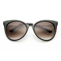 Medium Pointed Horn Rimmed Cat Eye Sunglasses with Studs