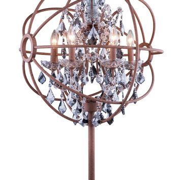 "Geneva Table Lamp D:22"" H:34"" Lt: Rustic Intent Finish (Royal Cut Silver Shade Crystals)"