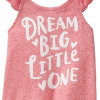 """""""Dream Big"""" Flutter-Sleeve Tees for Baby"""