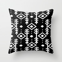 BLACK NORDIC Throw Pillow by Nika