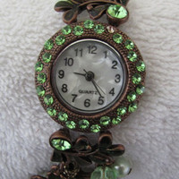 Antique Style Crystal Bracelet Watch. 30% Off - 59 Dolars Only. FREE SHIPPING