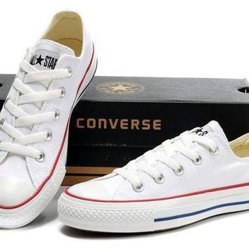 Converse Girl Boy Fashion Canvas Flats Sneakers Sport Shoes Low tops White