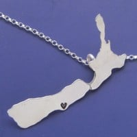 Custom New Zealand Necklace by sudlow on Etsy