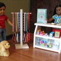 American Girl Doll Pampered Pets - Pet Shop Counter Display Case and Accessories - MAY 2014 SHIPPING ONLY