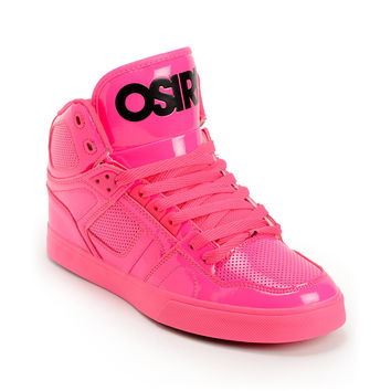 Osiris NYC 83 Pink Blacklight Skate Shoes