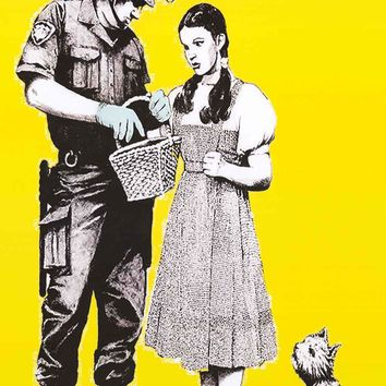 Banksy Wizard of Oz Stop and Search Poster 24x36