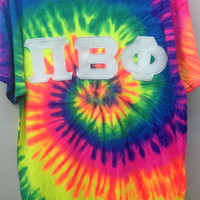 Pi Beta Phi Sorority Large T Shirt with Greek Letters -- Ready to Ship!