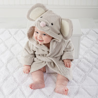 """Squeaky Clean"" Mouse Hooded Spa Robe"