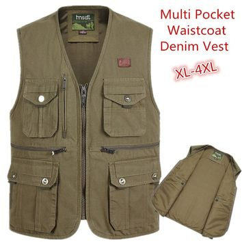 2018 New Arrival Summer Outdoors Travels Vests Sport Vest 4XL Hunting Shooting Vest with Multi Pocket