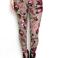 Tulips Bloom Patterned Leggings