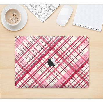 """The Fancy Pink Vintage Plaid Skin Kit for the 12"""" Apple MacBook"""